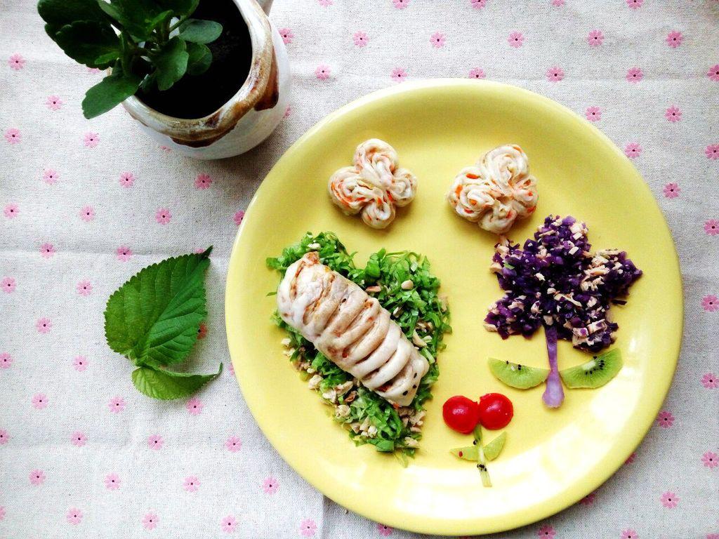 创意儿童餐【毛毛虫变蝴蝶】图片