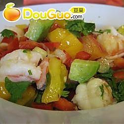 鳄梨青柠鲜虾沙拉的做法