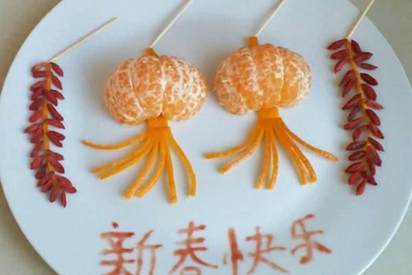 主料 橘子.枸杞.剪刀.1个.几十个 趣味拼盘.