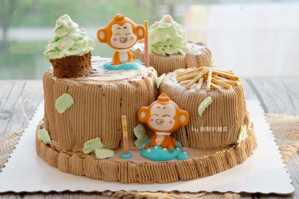 新年猴年蛋糕图片