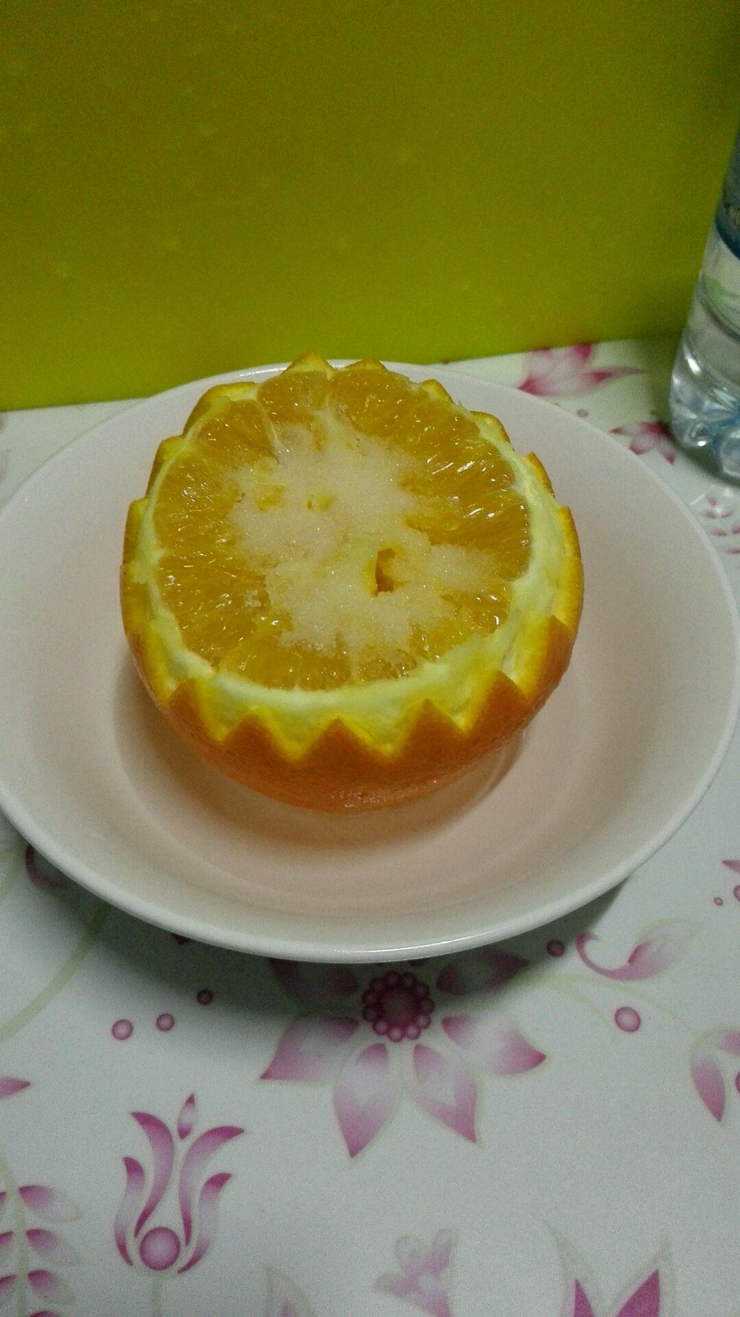 盐蒸橙子的做法步骤