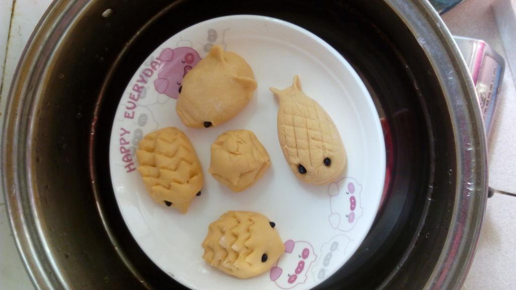 胡萝卜动物图案馒头#东菱魔法云面包机