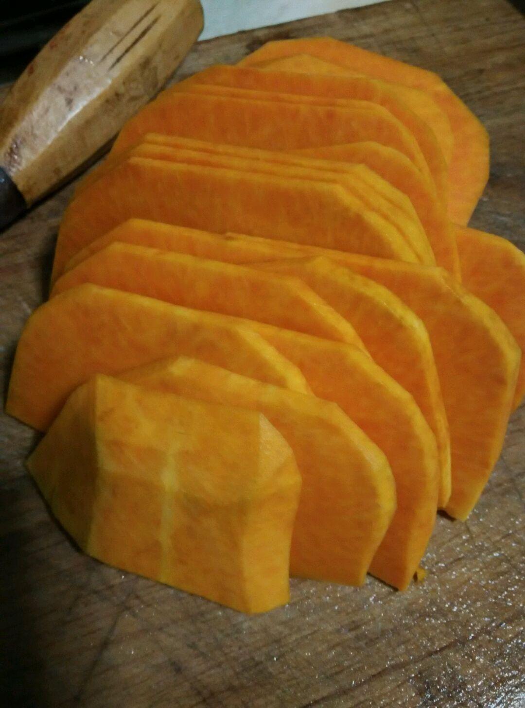 南瓜红枣馒头的做法图解1
