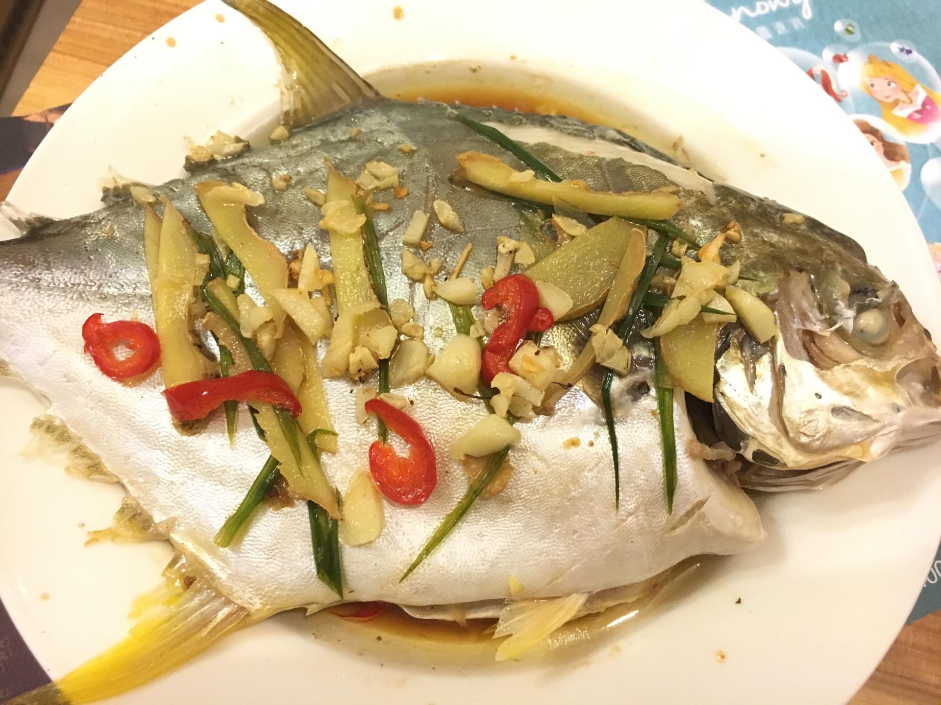 清蒸金鲳鱼 清蒸鱼的做法图解7