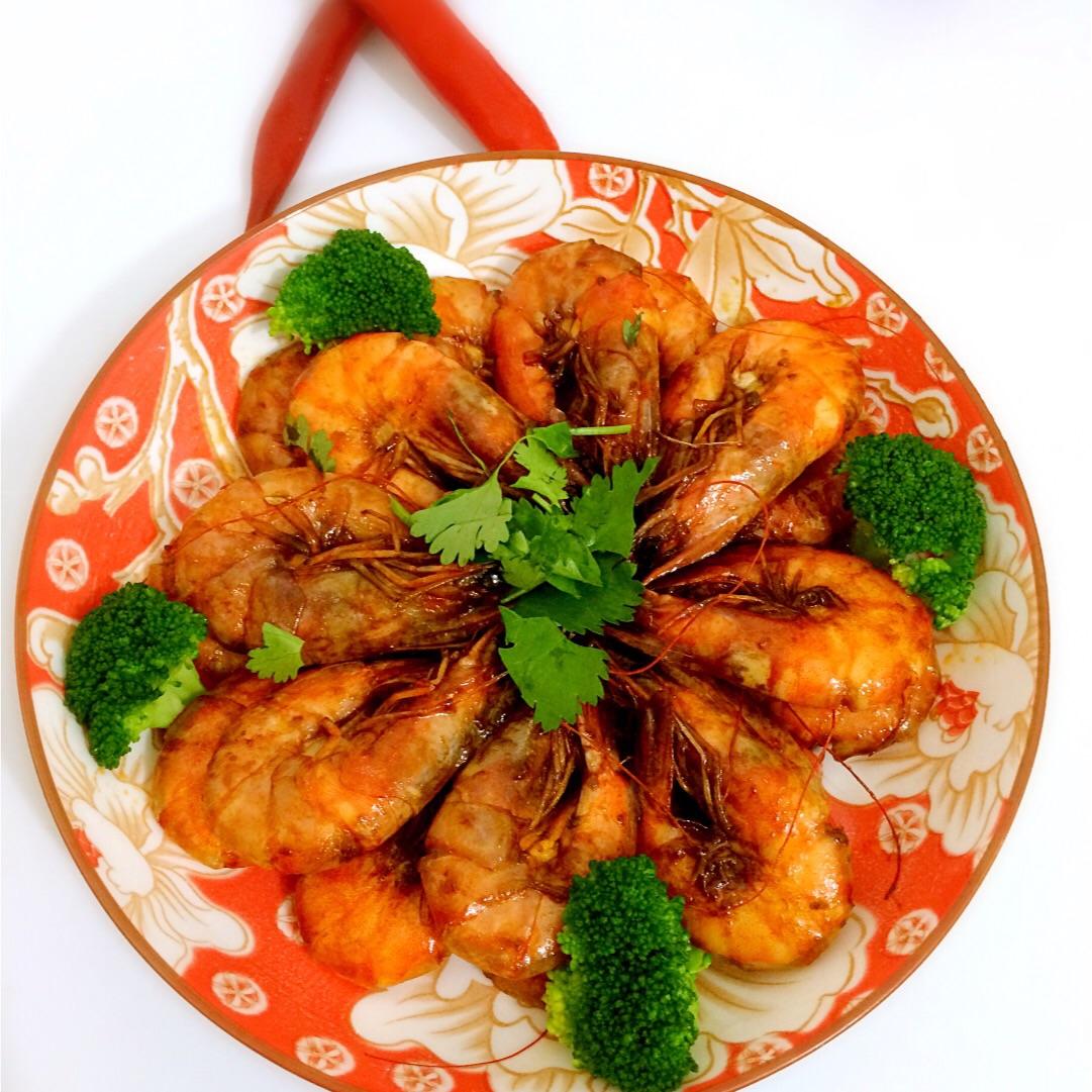 红酒焖虾的做法图解11