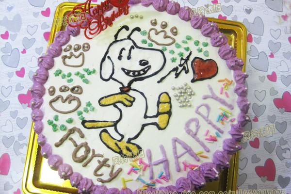 蛋糕简笔画带涂色
