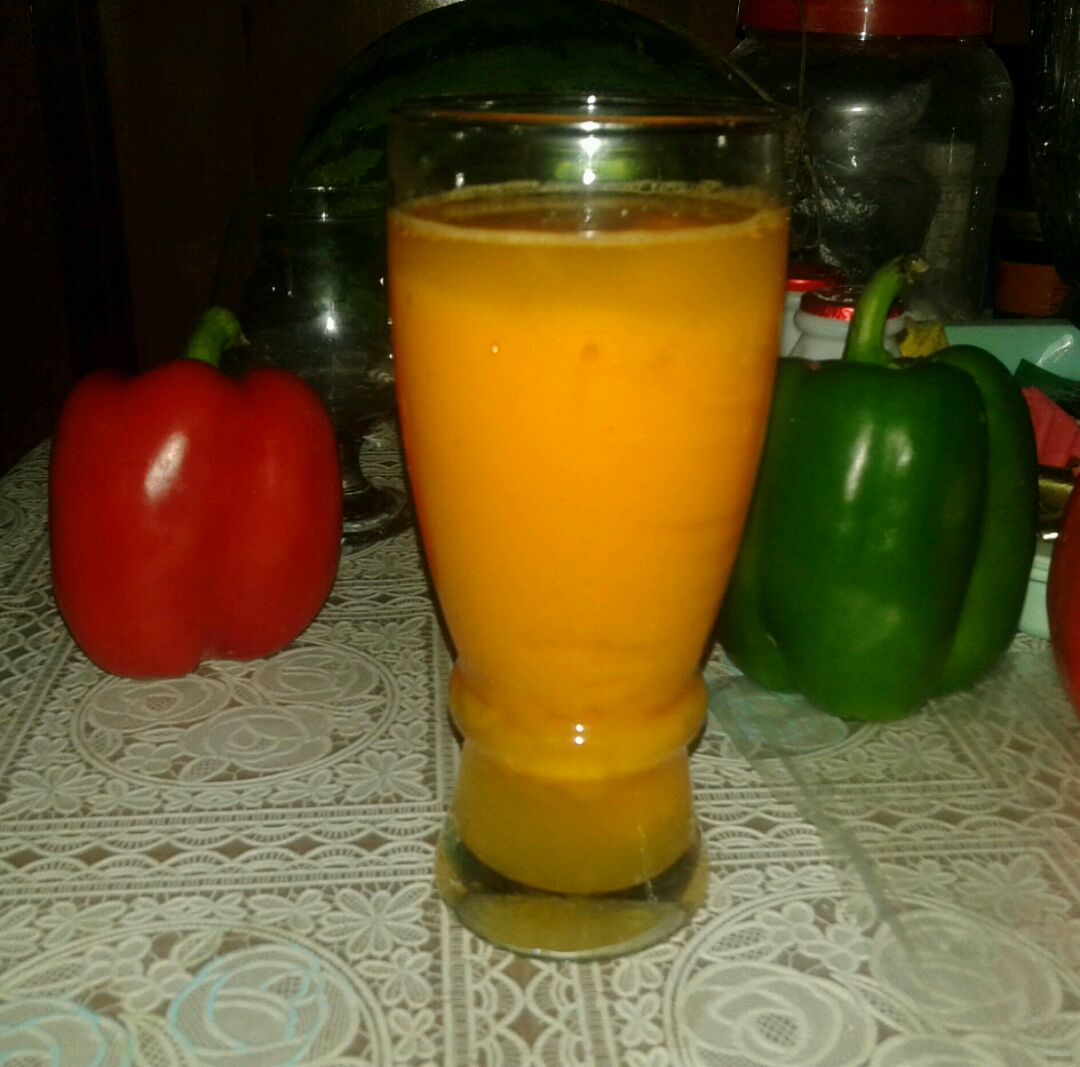 芒果木瓜饮的做法图解1