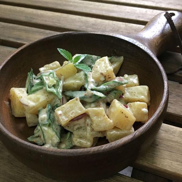 蒸微秋葵土豆色拉