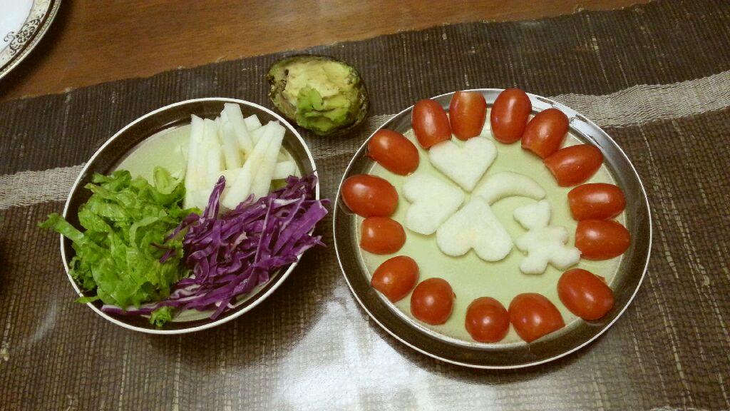 牛油果两吃 : 水果蔬菜沙拉 牛油果焗蛋