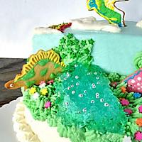侏罗纪恐龙生日蛋糕#豆果5周年#的做法图解15
