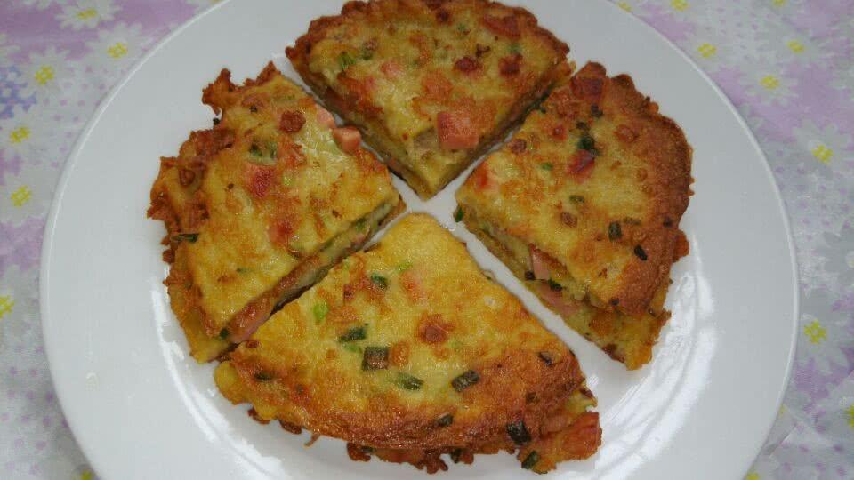 葱香土豆煎饼的做法_【图解】葱香土豆煎饼怎么做