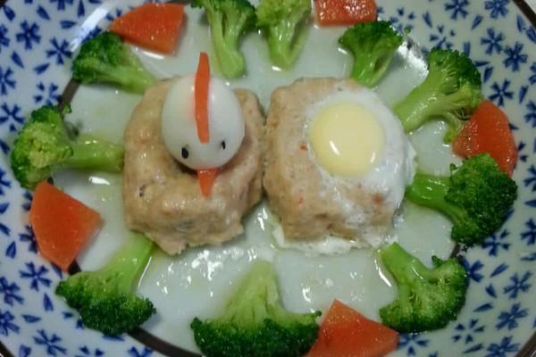 鲜虾鸡茸饼蒸鹌鹑蛋(做法食谱)的宝宝_【图解十五天减肥食谱图片
