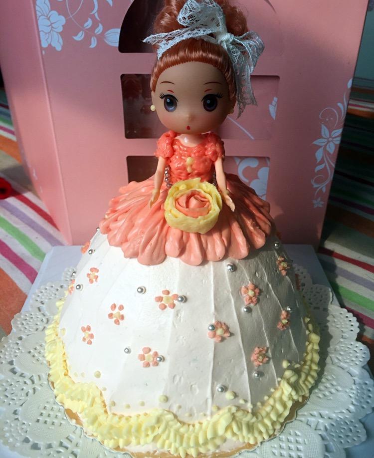 芭比娃娃蛋糕的做法图解11