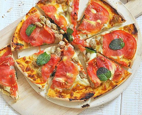 薄皮番茄罗勒意大利披萨