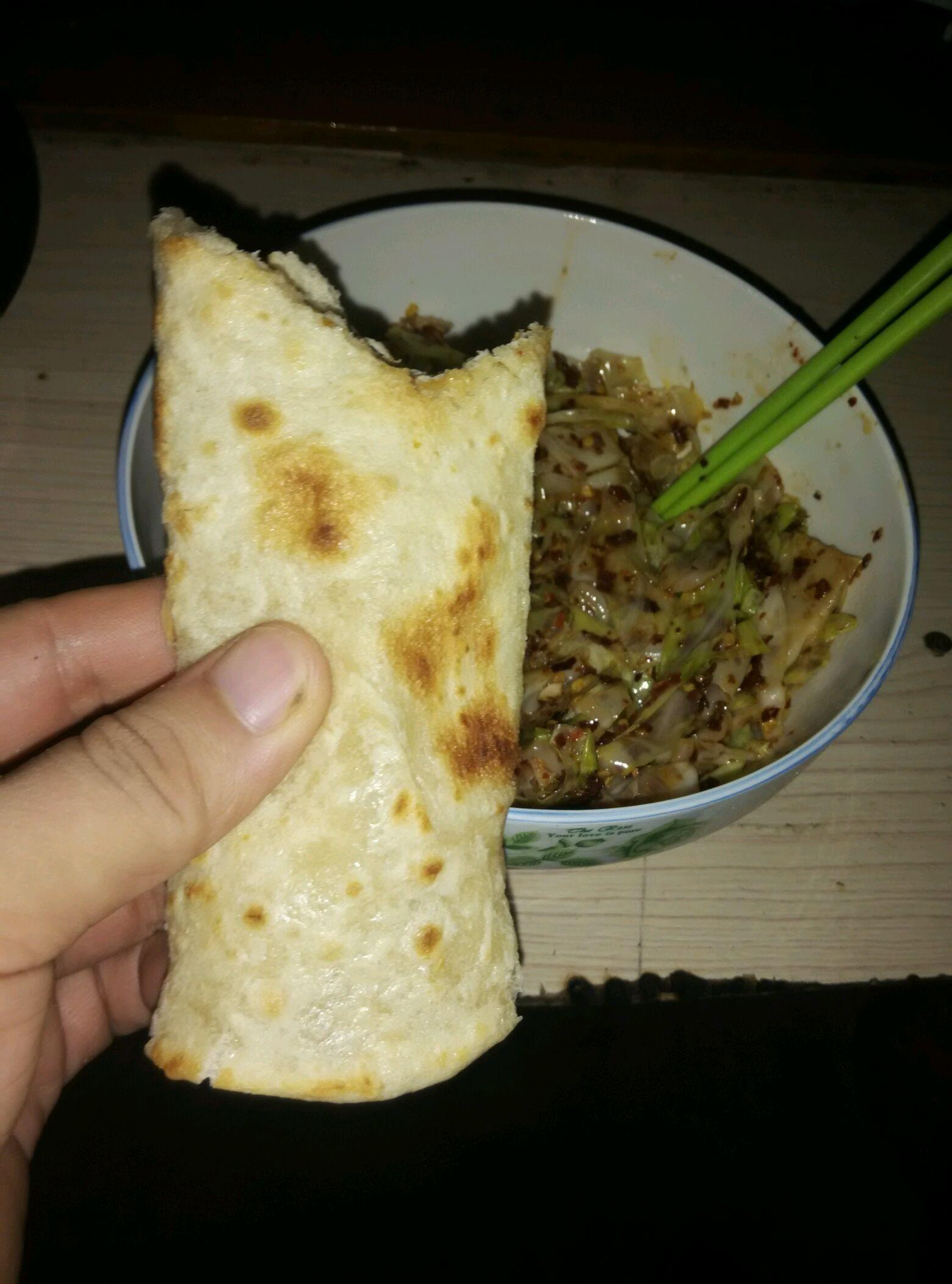 河南特色小吃美食洛馍卷菜的做法图解8