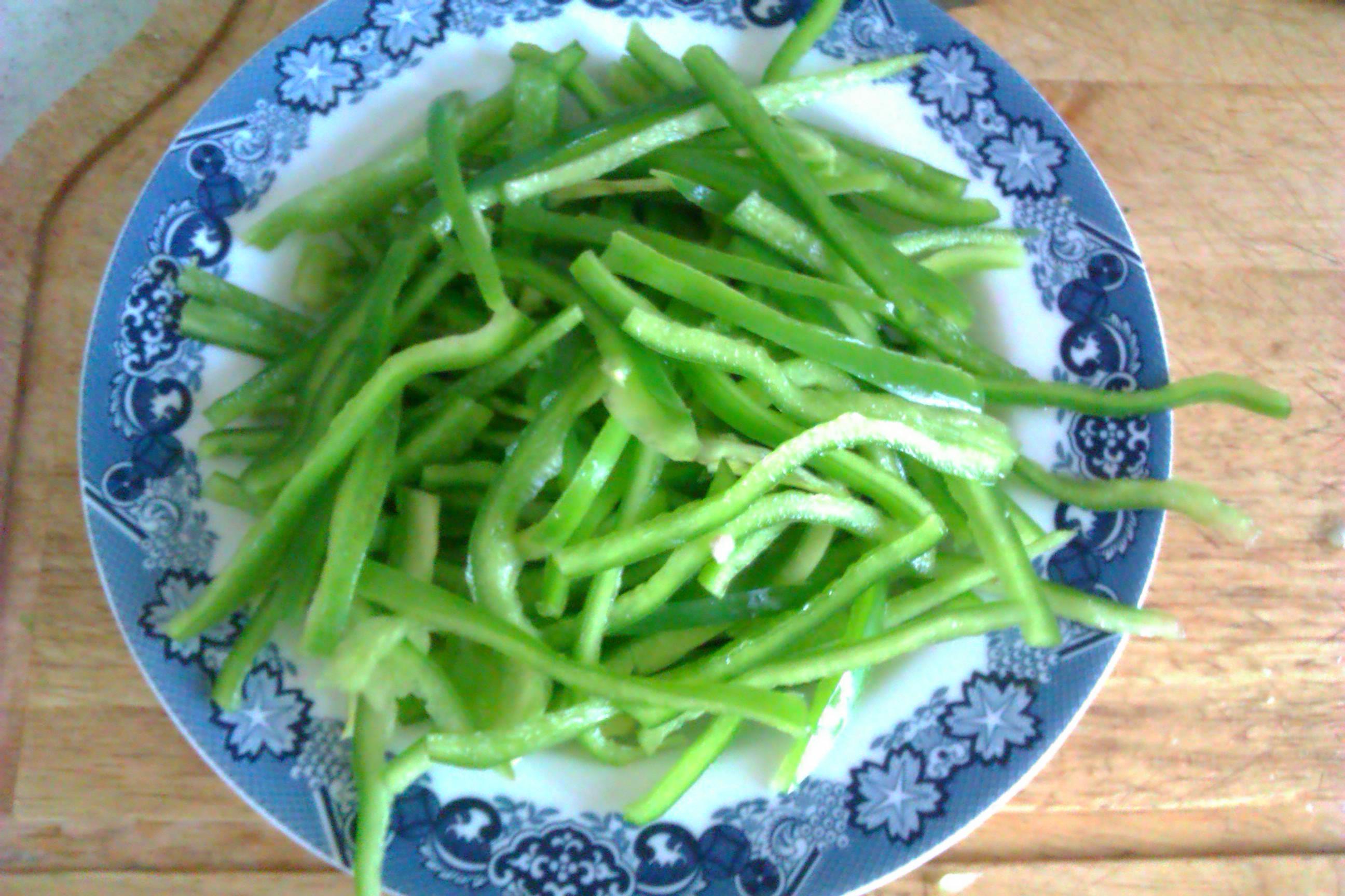 青椒肉丝的做法步骤