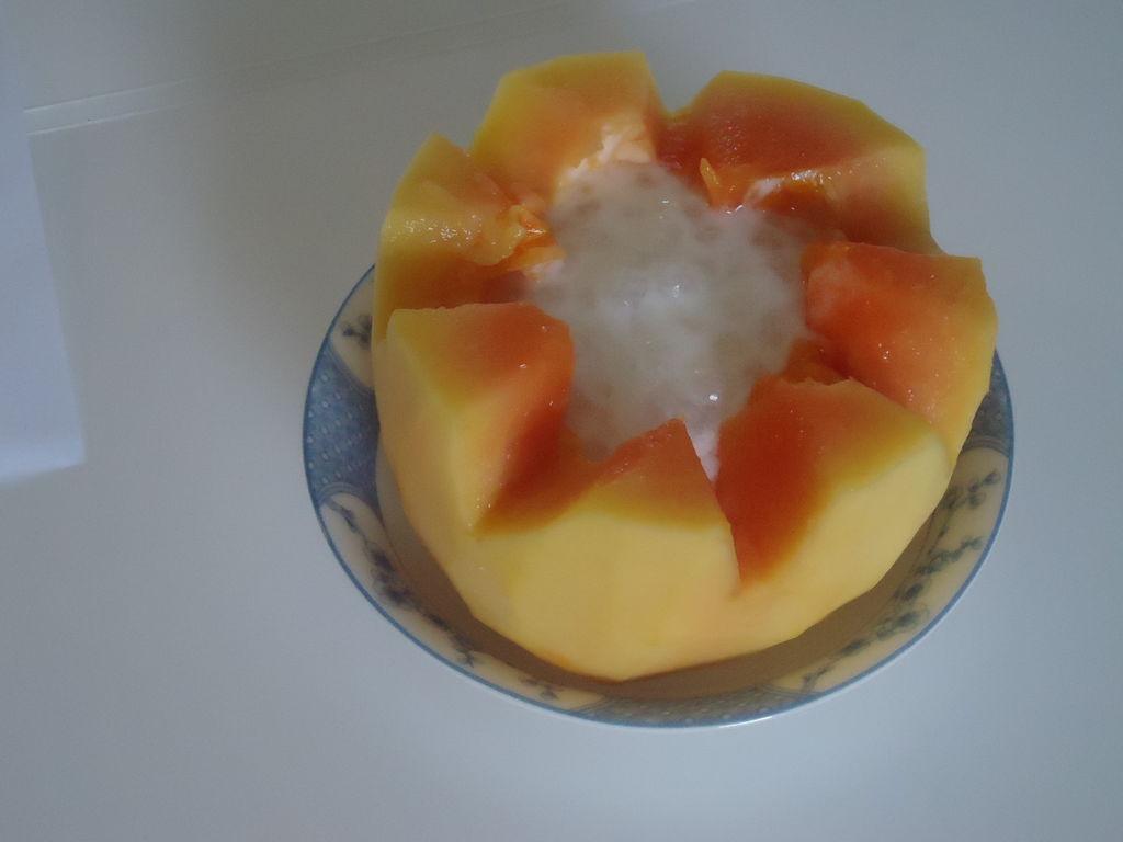 木瓜炖奶的做法_【图解】木瓜炖奶怎么做如何做好吃
