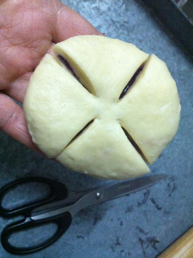 紫薯花式面包的做法图解8