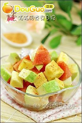 甘草盐拌杂果的做法
