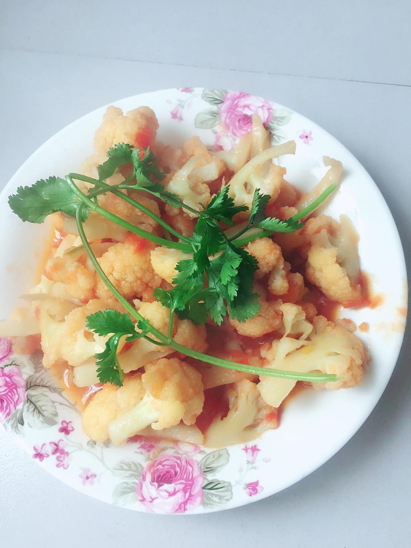 西红柿花菜的做法步骤