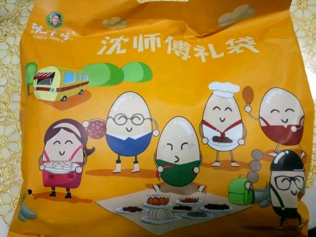 沈师傅神奇鸡蛋干礼包,包装上的蛋宝宝好可爱