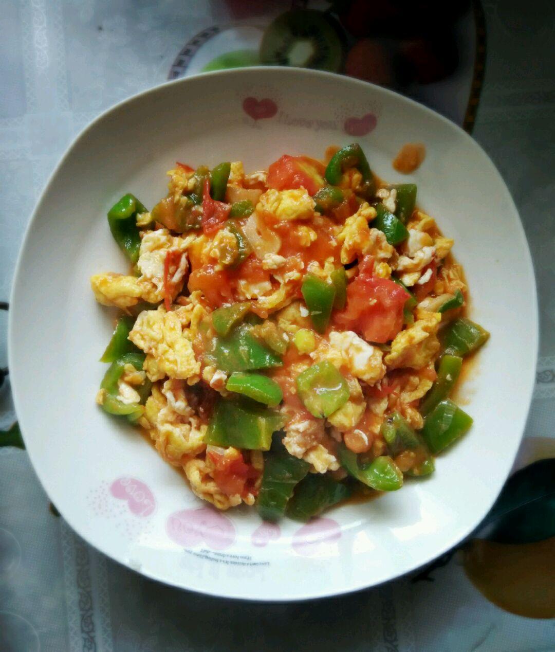 做法西红柿青椒的菜谱哪些请问的学校鸡蛋有图片