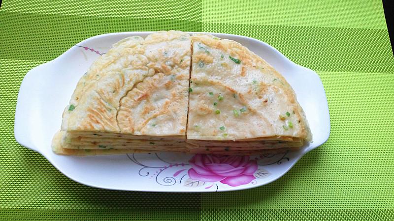葱花鸡蛋早餐饼的做法_【图解】葱花鸡蛋早餐饼怎么做