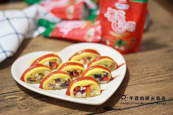 蛋皮蔬菜卷(做给宝宝们吃的菜)