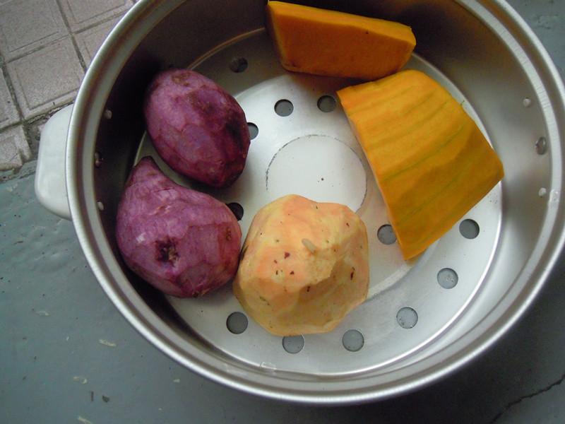 双薯南瓜芋圆的做法图解2