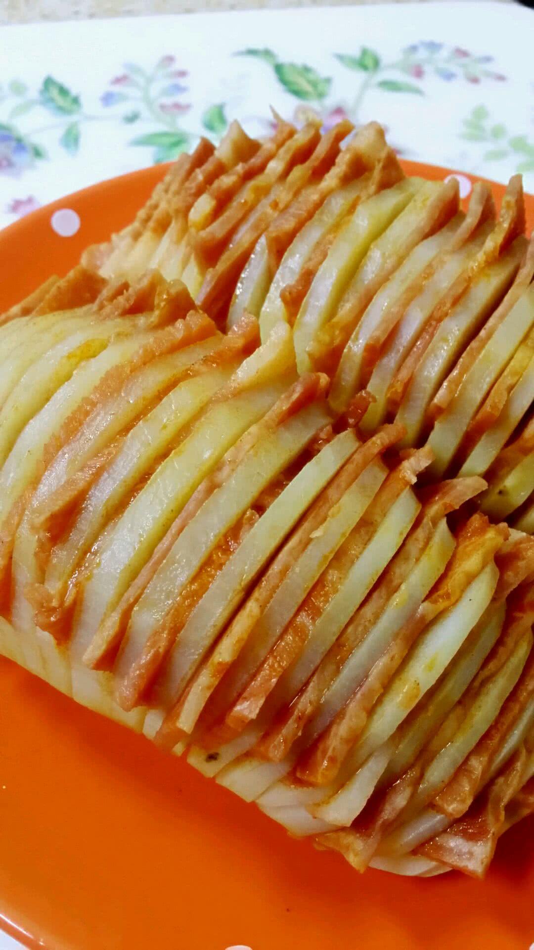培根~風琴土豆的做法圖解6