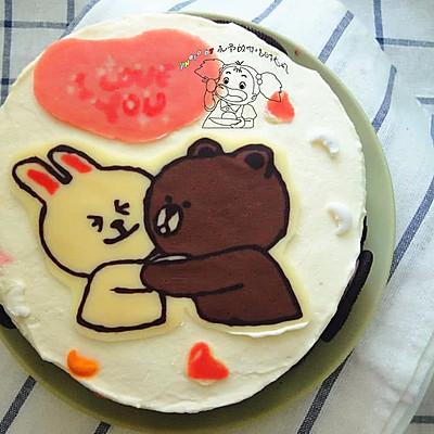 献给爸妈的结婚纪念日蛋糕【附巧克力转印详细过程】图片