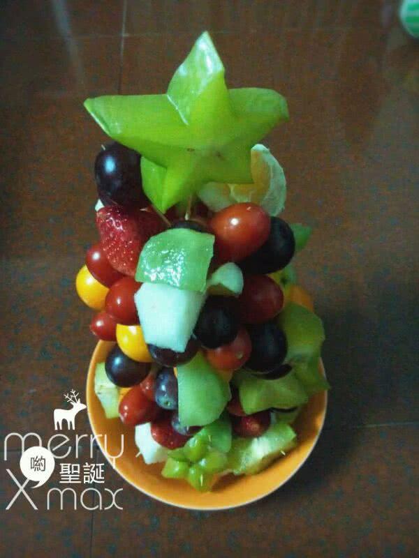 水果圣诞树的做法步骤