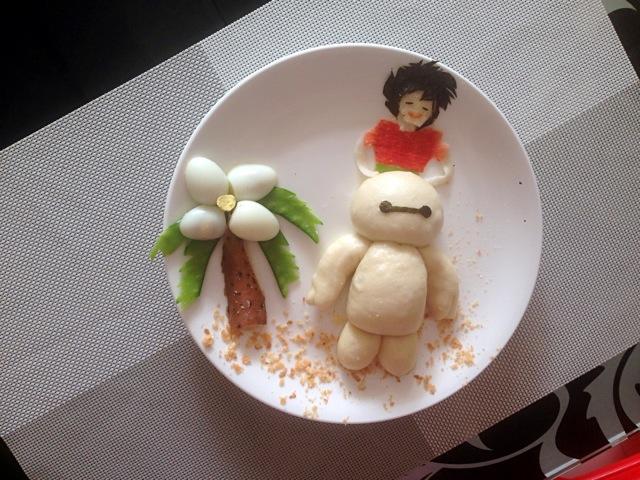 宝宝创意营养童趣早餐之大白的做法图解6图片