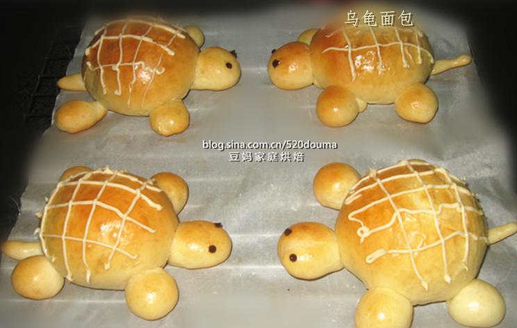 给宝宝惊喜的儿童节礼物---可爱的小乌龟面包