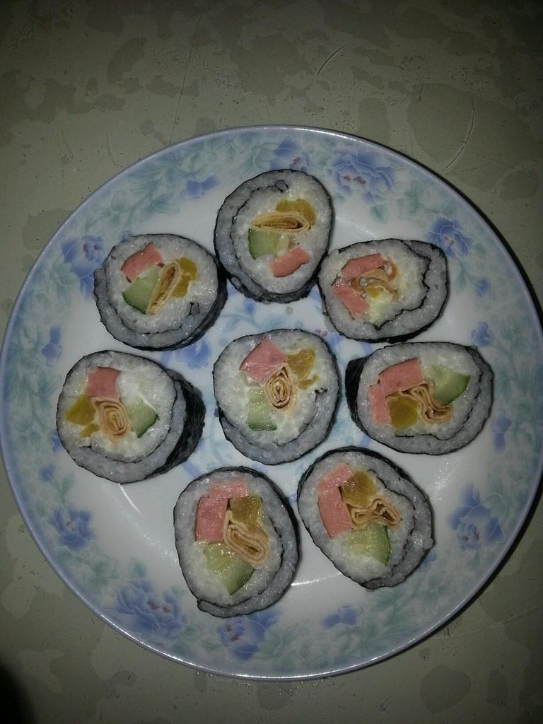 韩国寿司的做法_【图解】韩国寿司怎么做如何做好吃