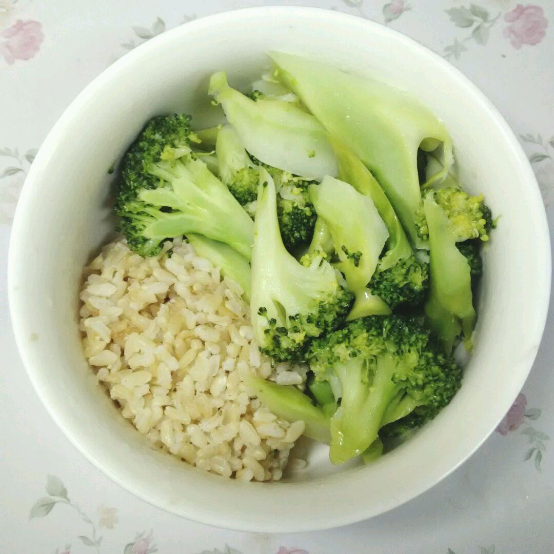 减肥食谱②西兰花糙米饭