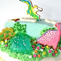 侏罗纪恐龙生日蛋糕#豆果5周年#的做法图解11