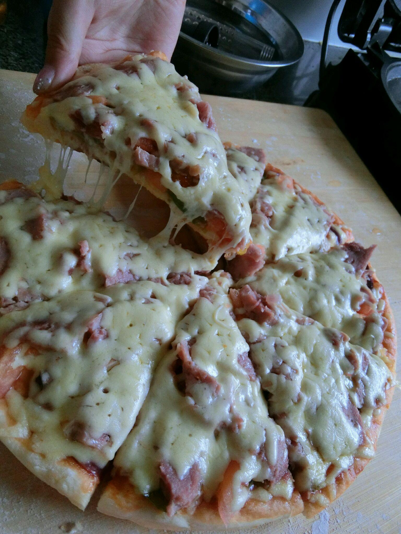 电饼铛披萨的做法_【图解】电饼铛披萨怎么做如何做