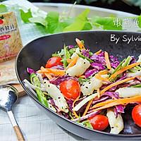 嫩煎鱼柳沙拉#丘比沙拉汁#的做法图解9