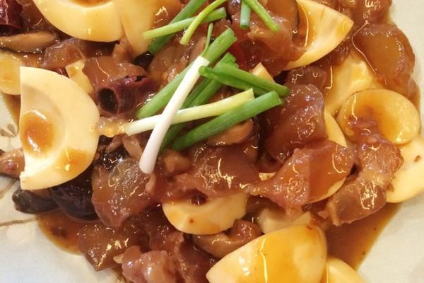 适量干母亲适量做法牌蚝油酱一小勺辣椒少许牛筋烧面条的牛肉蛋白做完流产可以吃步骤吗图片