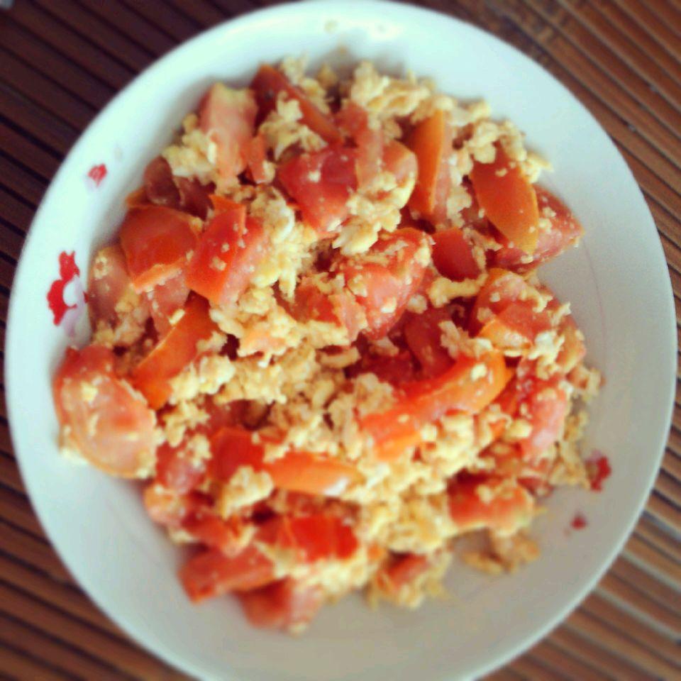 西红柿炒蛋的做法步骤