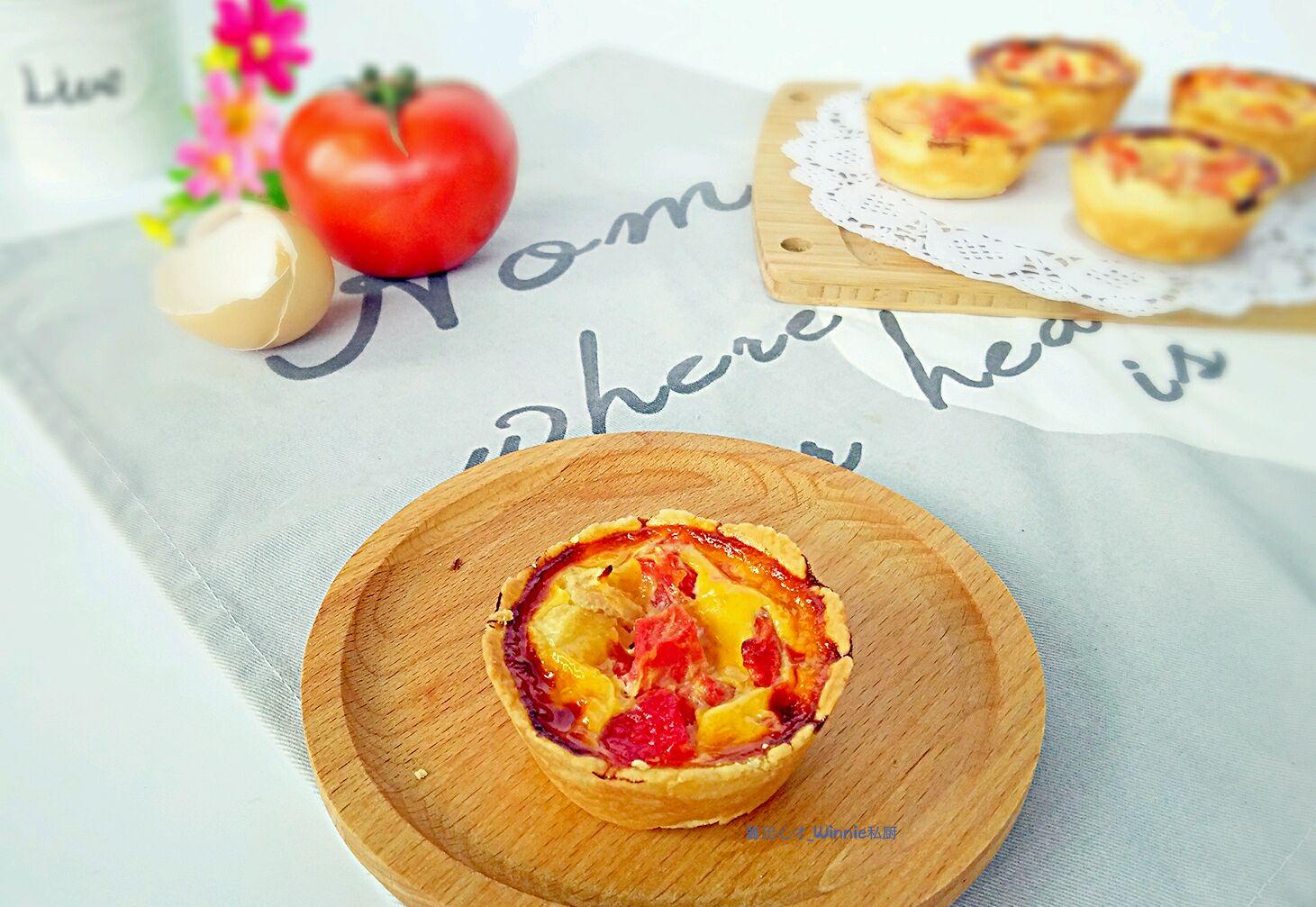 【花样西红柿】–【雪梨西红柿蛋塔】的做法图解9