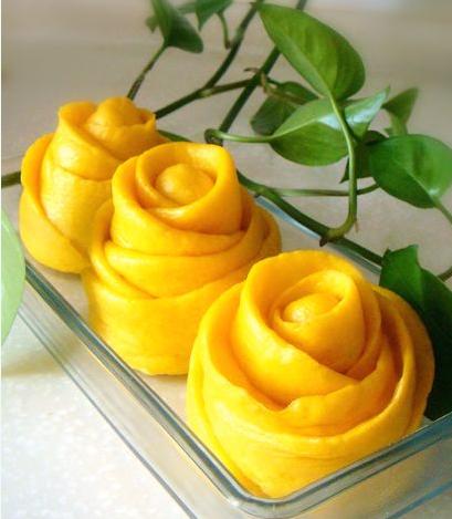 黄玫瑰花卷的做法_【图解】黄玫瑰花卷怎么做如何做