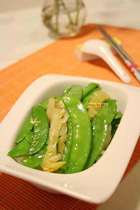 潮汕咸菜炒荷兰豆