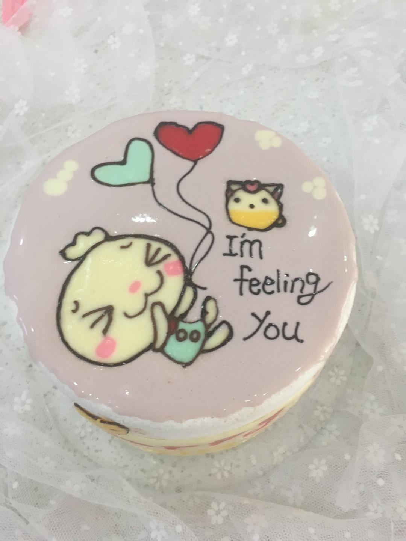 猫咪吃蛋糕可爱卡通