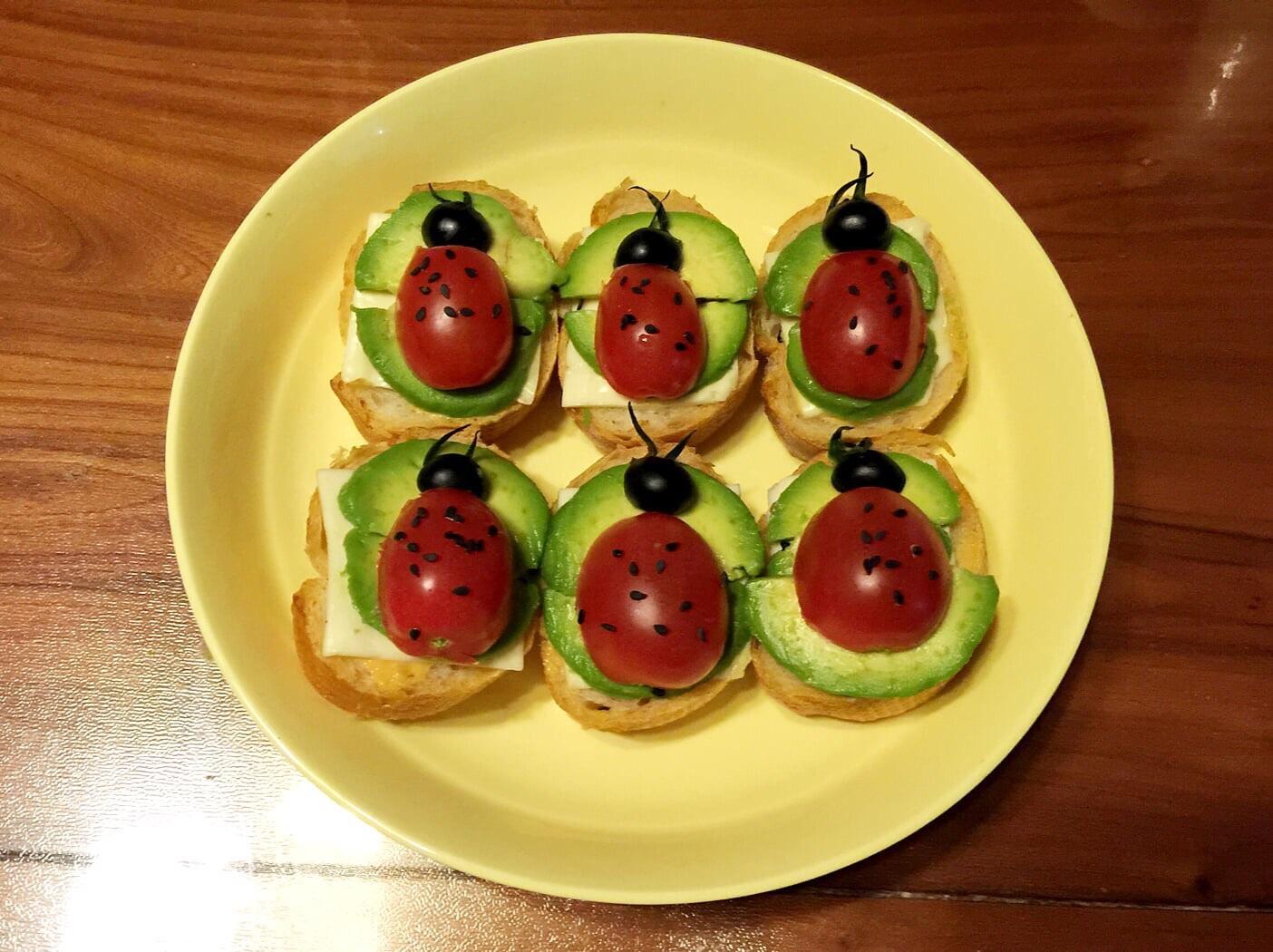 儿童早餐—小瓢虫法棍