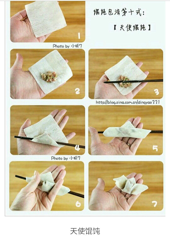 馄饨的包法的做法步骤 锅里放水烧开,在等水开的同时可以在即将吃