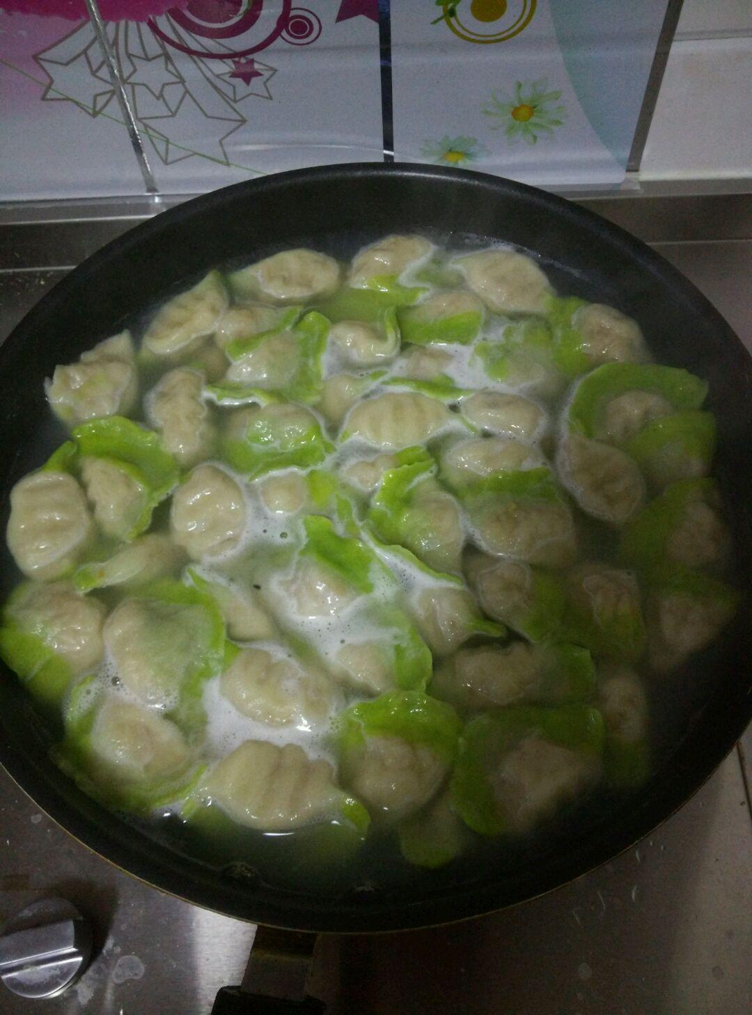 翡翠白菜水饺的做法图解13