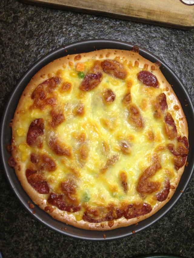 披萨简笔画上色