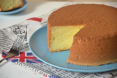 八寸原味戚风蛋糕